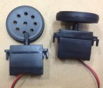 Black Gearbox Motor DC + Wheel, 200rpm