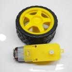 motor gearbox 6v 200 rpm + roda kuning
