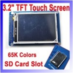 3,2 INCH TFT touch screen + SD card slot