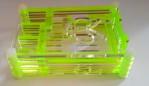 RASPBERRY PI B+ CASE TRANSPARENT GREEN COLOR