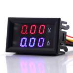 Dual voltmeter and ampere meter