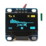 0.96″ Yellow and Blue I2C IIC Serial 128X64 OLED LCD