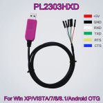 PL2303 HXD 6Pin USB TTL RS232 Convert Serial Cable PL2303HXD Compatible Win XP/VISTA/7/8/8.1/Android OTG